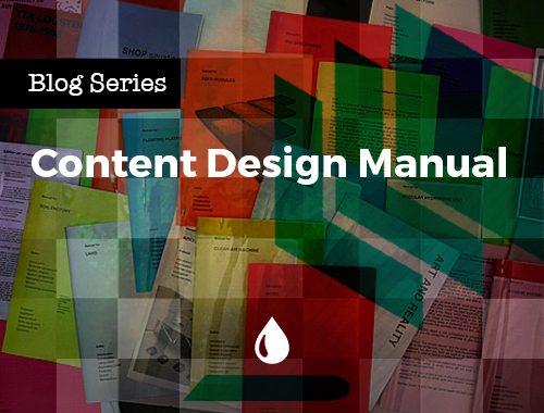 Content Design Manual